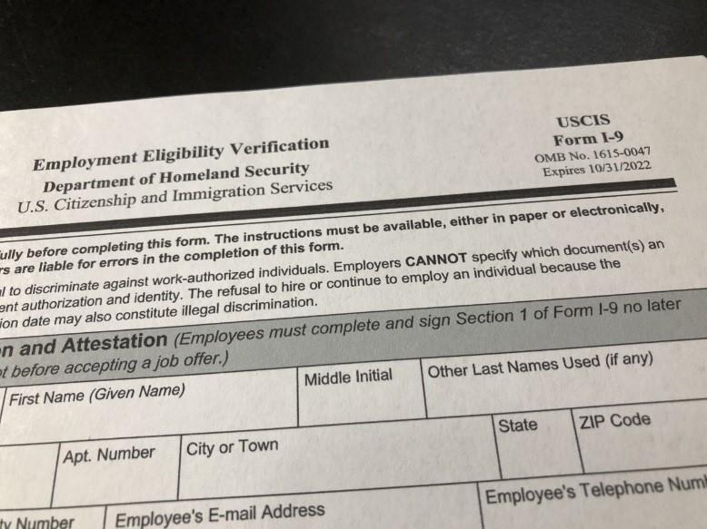 Form I-9 2022